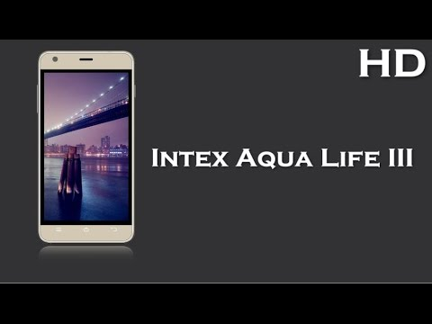Intex Aqua Life III launched with 5.0 Inch Display 2000mAh battery, 1GB RAM, Android 5.1 Lollipop