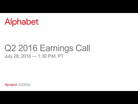 , title : 'Alphabet 2016 Q2 Earnings Call'