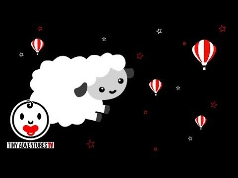 Baby Sensory | Sleepy Time - Sleepy Sheep | Black white red (Put newborn to sleep)