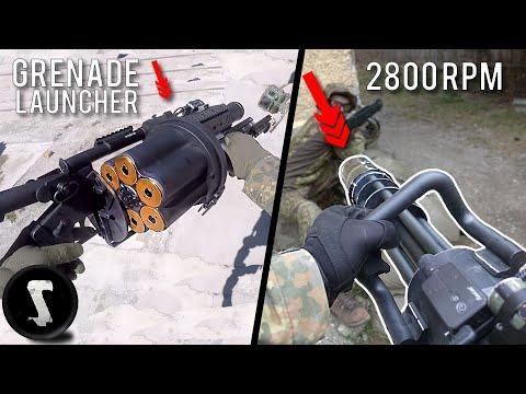 Most PAINFUL Airsoft Guns EVER | 40mm Grenade Launcher vs 2800 RPM Minigun