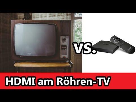 Amazon Fire TV am Röhrenfernseher mit dem HDMI zu Chinch Adapter von BlueBeach
