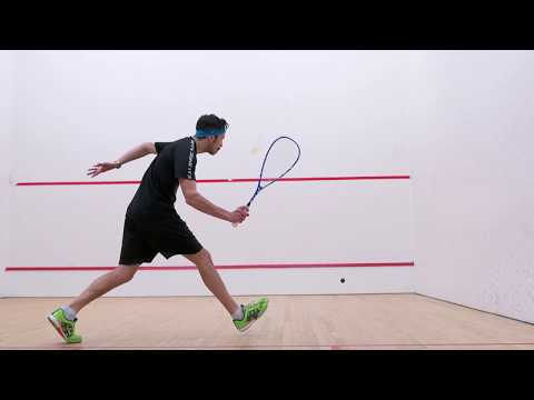 Squash coaching: Drop shots from the middle of the court!
