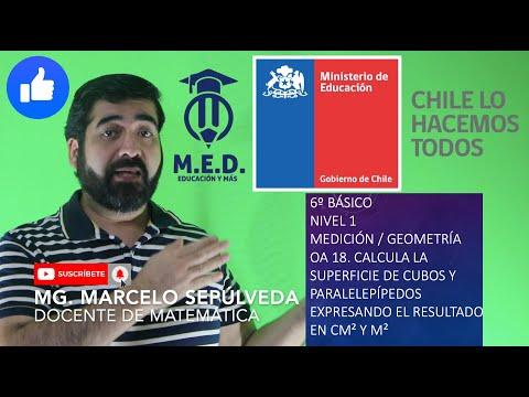 CÁLCULO DE SUPERFICIE DE CUBOS Y PERALELEPÍPEDOS, PRIORIACION CURRICULAR, 6º N1 OA 18
