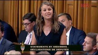 Diputada canadiense envía condolencias a México
