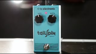 Shop Now: http://www.guitarcenter.com/TC-Electronic/Tail-Spin-Vibrato-Effect-Pedal.gc?source=4GOA4LOBATailSpin Vibrato delivers a wealth of stunning vintage vibrato tones all served in a package so affordable that it'll make your head spin. Its all-analog bucket brigade design brings everything from subtle organic wobbles to pitch-bendy warped vinyl tones and all the way to fast leslie-like sounds. These beautiful tones are housed in a compact and sturdy enclosure, ready to rock the road!