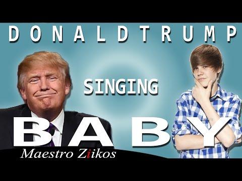Donald Trump laulaa Justin Bieberin Baby-kappaleen (remix)
