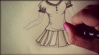 Disegnare Abiti E Scarpe Nelle Ragazze Manga❥ How To Draw Dresses And Shoes On Manga Girls