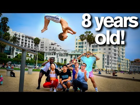 Extreme Acro Gymnasts vs 8 YEAR OLD *dares*