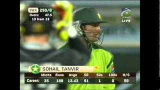 1st Feb 2011 Pak Vs Nz 4th ODI last 2 overs