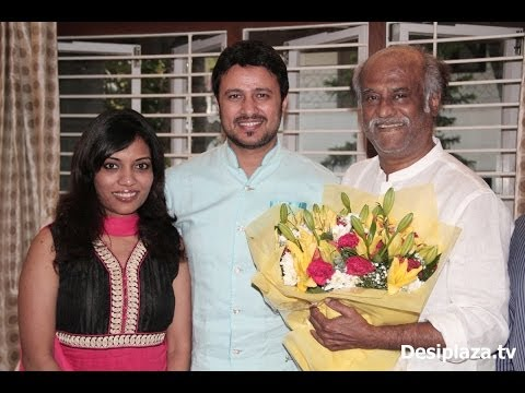 Super Star Rajinikanth greeted the pair