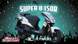 9. 2015 KYMCO SUPER 8 150 (R) (Quick Facts & Overview) by Boca Scooters