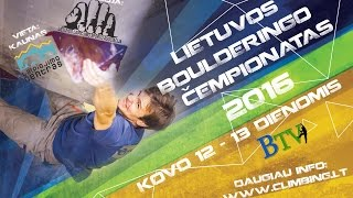 Lithuanian Bouldering Championship 2016 - Finals by Bouldering TV