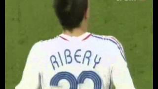 Franck Ribéry trifft bei der WM 2006 gegen Spanien