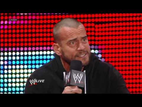 CM Punk invokes his rematch clause to face The Rock at Elimination Chamber: Raw, Jan. 28, 2013