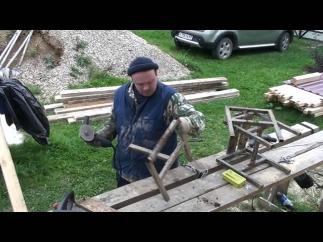 Часть 8. Строительство мансардной крыши. Производственные моменты , закрепление наклонных стропил.