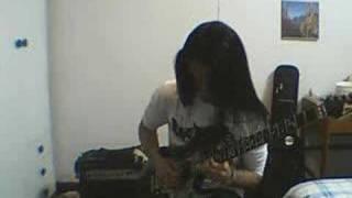 chinese guitar player--japanese cartoon music