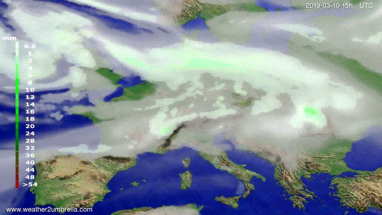 #Weather_Forecast// Precipitation forecast Europe 2019-03-08