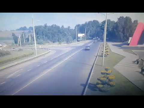 """Фура врезалась в стелу """"Новокузнецк"""""""