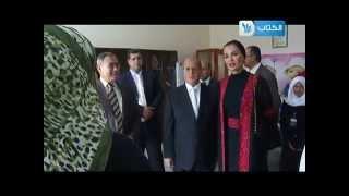 جولة سمو الشيخة موزة في الجامعة الاسلامية بغزة