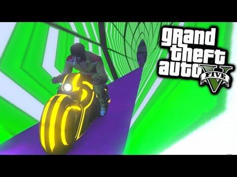 TRON RACE! - GTA 5 Funny Moments #648