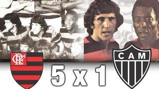 Flamengo 5 x 1 Atlético MG * Amistoso 1979 * Pelé e Zico Juntos