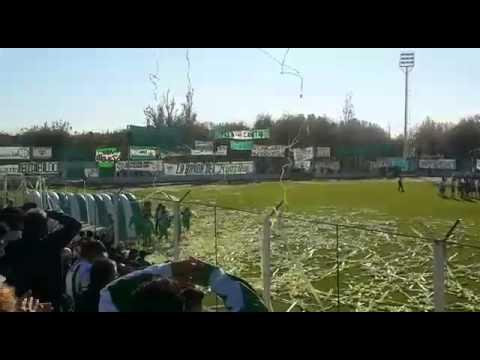 Recibimiento de Sportivo Desamparados, 1° partido Federal B 2015 - La Guardia Puyutana - Sportivo Desamparados