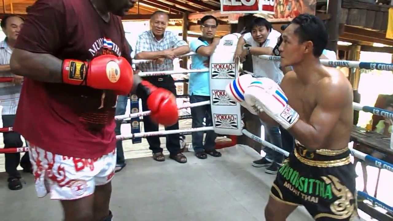 Riddick Bowe and Saenchai @ 13 Coins Gym