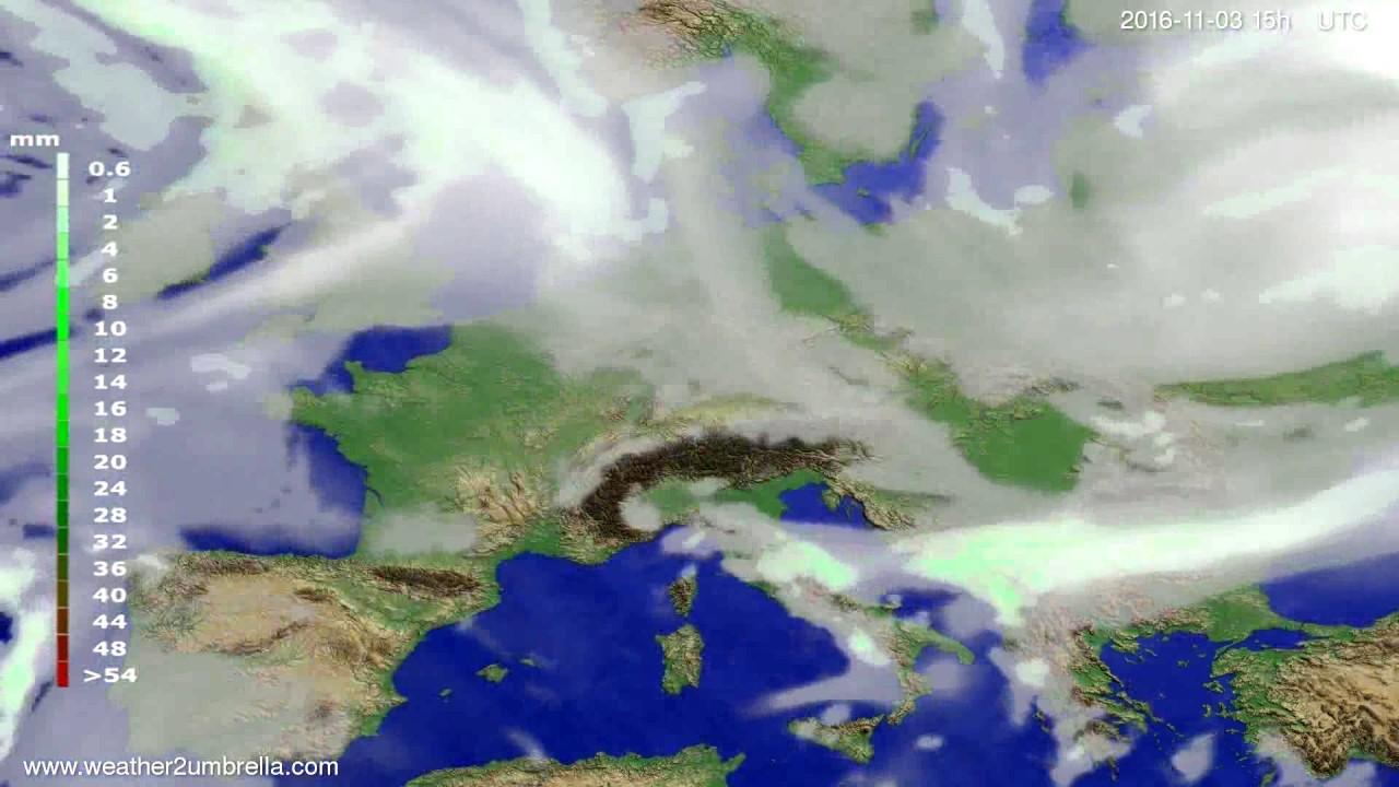 Precipitation forecast Europe 2016-11-01