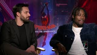 Shameik Moore and Jake Johnson explain what it takes to be a part of the Spiderverse