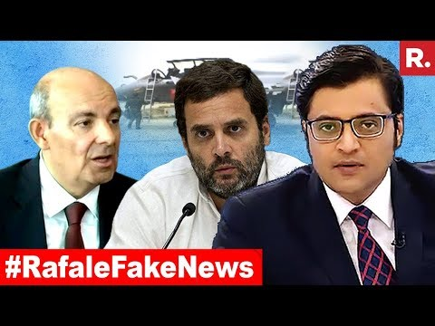 Dassault CEO Exposes Rahul Gandhi On Rafale | The Debate With Arnab Goswami