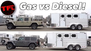 What Tows Better - a Gasoline Jeep Gladiator or a Diesel Jeep Wrangler? by The Fast Lane Car