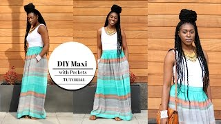 Video DIY Maxi Skirt with Pockets Tutorial download in MP3, 3GP, MP4, WEBM, AVI, FLV January 2017