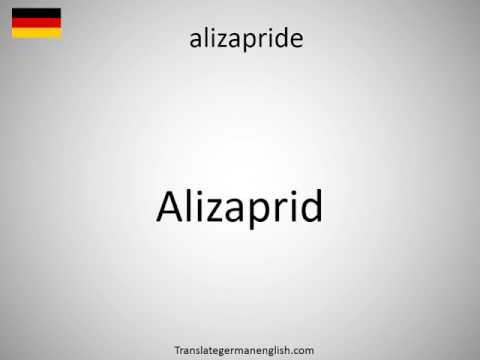 How to say alizapride in German?