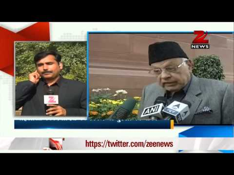 Farooq Abdullah apologises for his comment on women 06 December 2013 02 PM