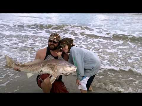Surf Fishing Texas for Bullreds in the Winter – Jan 2014