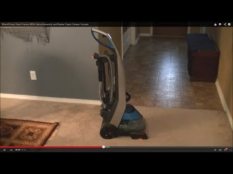 Bissell Deep Clean Premier 80R4 Unbox/Assembly and Review Carpet Cleaner Vacuum