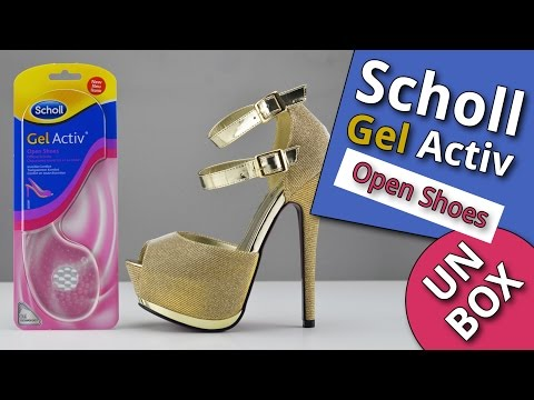 Scholl Gel Activ Open Shoes Insoles - UNBOXING