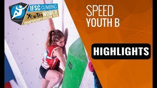IFSC Youth World Championships Moscow 2018 - Youth B Speed Finals Highlights by International Federation of Sport Climbing