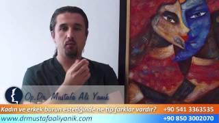 Op. Dr. Mustafa Ali Yanık kadın ve erkeklerin burun estetiğindeki farklarını anlatıyor