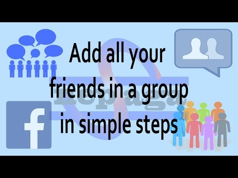 (Facebook Tricks: How To Add All Friends In Facebook Group - Duration: 3 minutes, 15 seconds.)