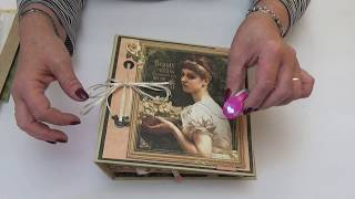 Create this gorgeous album for your pictures and memorabilia altered in papers from the Portrait of a Lady collection by Graphic 45.  Follow the link below to order the PDF Tutorial for the album http://www.mycreativespirit.co.uk/portrait-of-a-lady-album-1106-p.asp