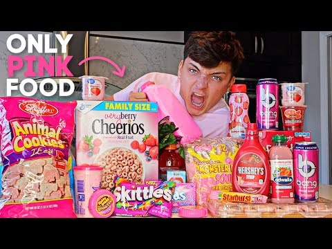 I ONLY Ate PINK Foods For 24 HOURS! (FOOD CHALLENGE)