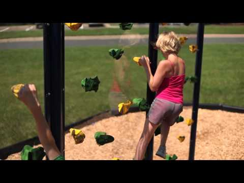 Clear Playground Climbing Wall Video
