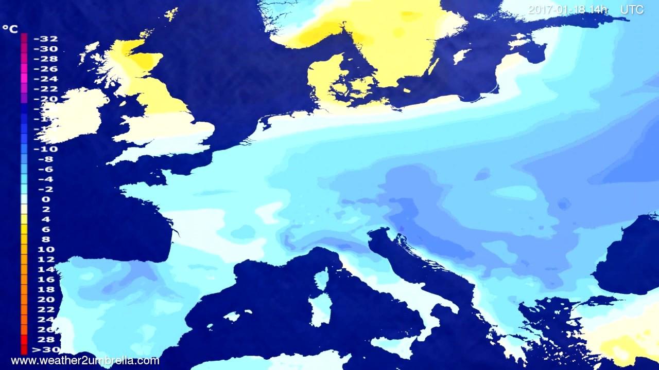 Temperature forecast Europe 2017-01-14