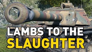 """World of Tanks - T110E4. Today Krashnack is going on a rampage in his T10 American turreted tank destroyer the T110E4!SUBSCRIBE for more videos!: ►https://goo.gl/5VIiJnT-SHIRTS: ►https://goo.gl/s2OINqLIVESTREAMS: Tuesdays, Thursdays and Sundays for 5 hours+ Starting @ 18:00-CET / 17:00-GMT / 12:00-EST►http://www.twitch.tv/quickybabyTwitter ►http://www.twitter.com/quickybabyFacebook ►http://www.facebook.com/quickybabyI'm partnered with G2A, get the latest games at the best prices! ►3% cashback using MY code: ►BABY◀ https://www.g2a.com/r/quickybabyQuickyBaby's FAQ►https://goo.gl/4Mi8wj___World of Tanks is a Free 2 Play online game published by Wargaming and is available as a free download here:https://goo.gl/AcgARAUse invite code """"QUICKYBABY4WOT"""" to get a T-127 with a 100% crew, 500 gold, 7 days premium, and a gun laying drive!"""