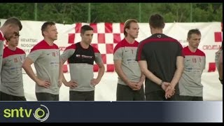 Croatia Practise National Anthem Ahead Of World Cup - Brazil World Cup 2014