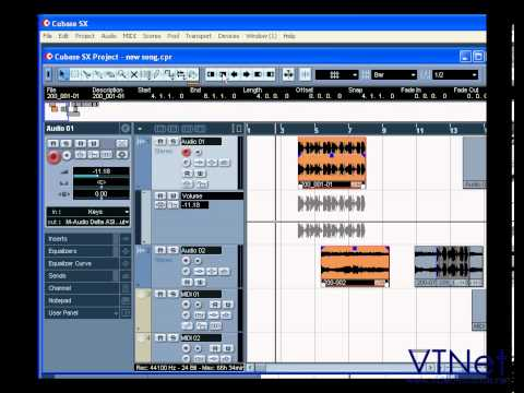 08 Cubase Video Tutorial – How to work with the Project Window – part 5 of 5