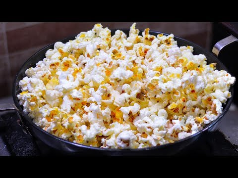 মাত্র ৫ মিনিটে চুলায় তৈরী পপকর্ণ রেসিপি | Popcorn Recipe At Home | Pop corn | How To Make Popcorn