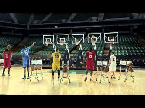 NBA Stars Plays Jingle Bells by Shooting Basketballs Through