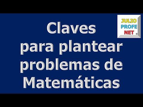Mensaje 3 de Julioprofe: Claves para plantear problemas de Matemáticas